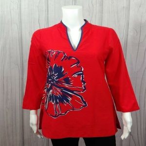 Lilly Pulitzer Tunic Top Size S Bold Patriotic